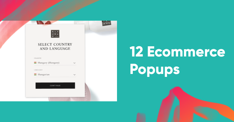 12 Ecommerce Popups to Grow Revenue & Email Subscribers