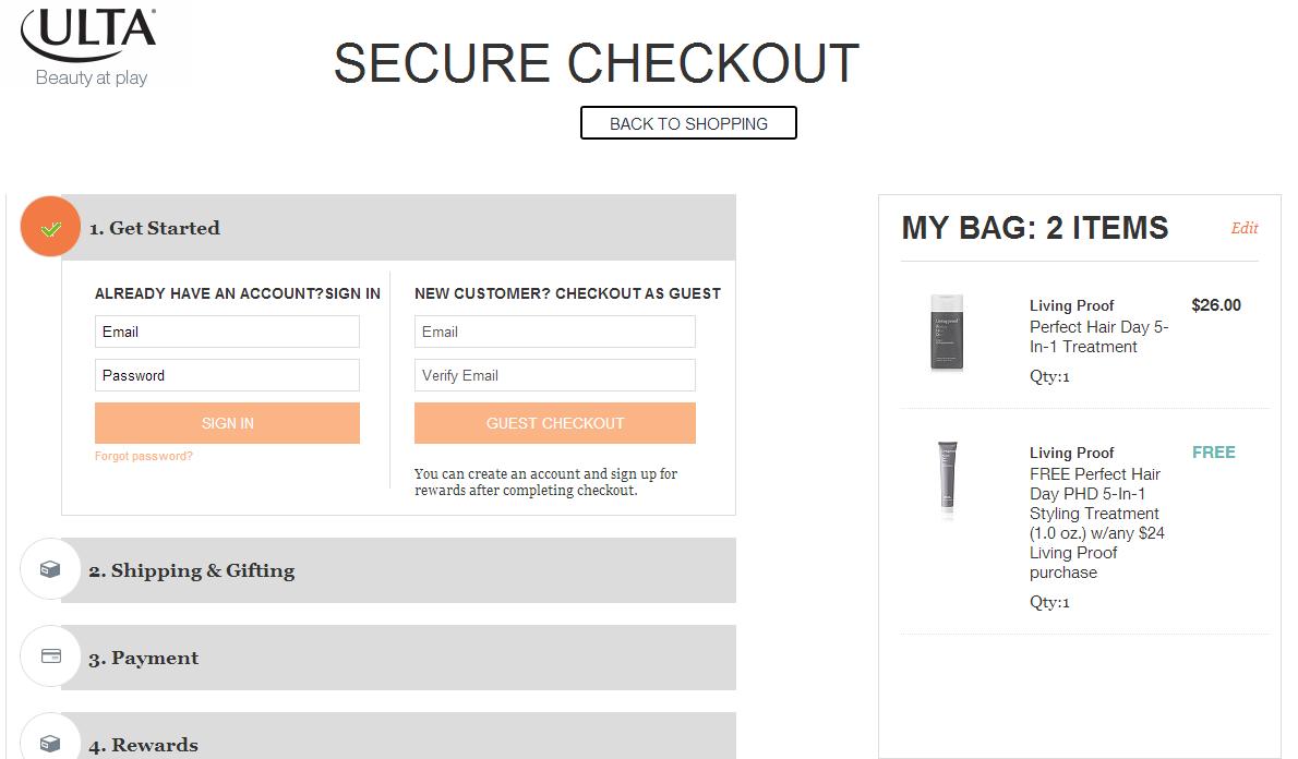 Minimal Checkout