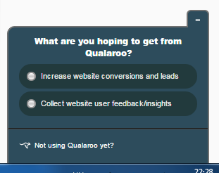qualaroo - 10 Tools You Can Use to Boost Your Conversions - Launchrock?