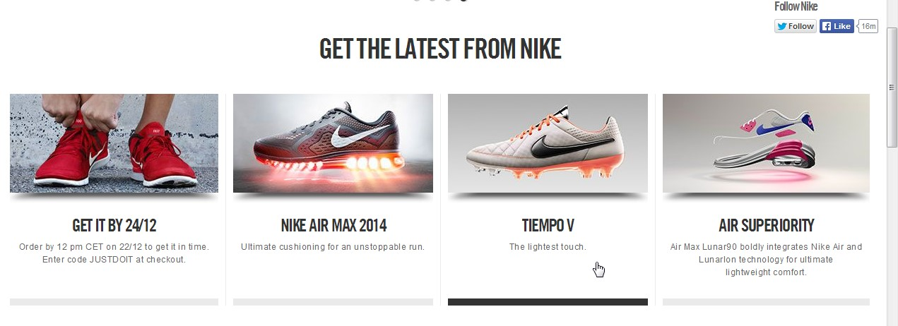 Latest products Nike