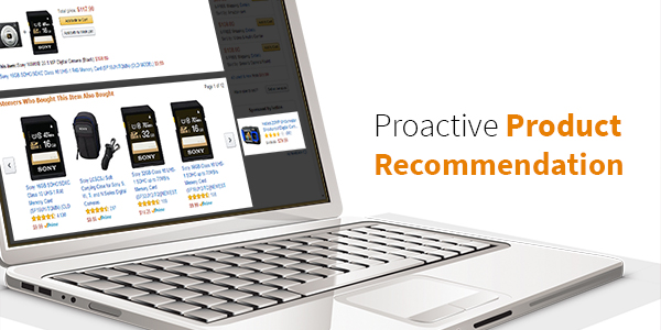 How top online stores use proactive product recommendations
