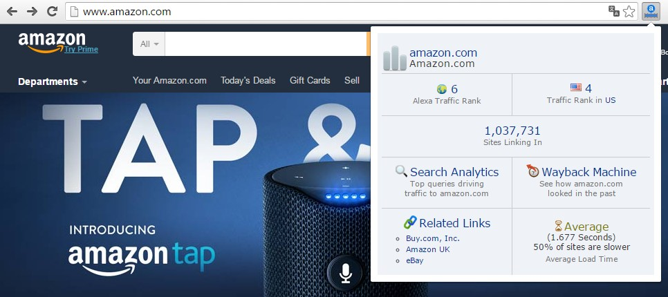 Research - Alexa Traffic Rank Toolbar