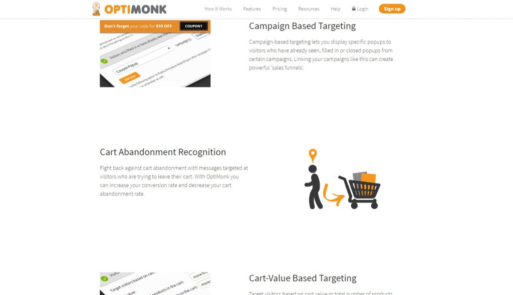 Renewed OptiMonk.com - Targeting options