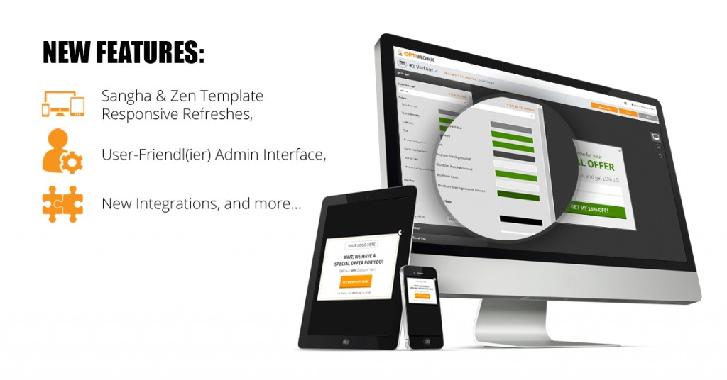 New Features: Sangha & Zen Template Responsive Refreshes, User-Friendl(ier) Admin Interface, New Integrations, and more…