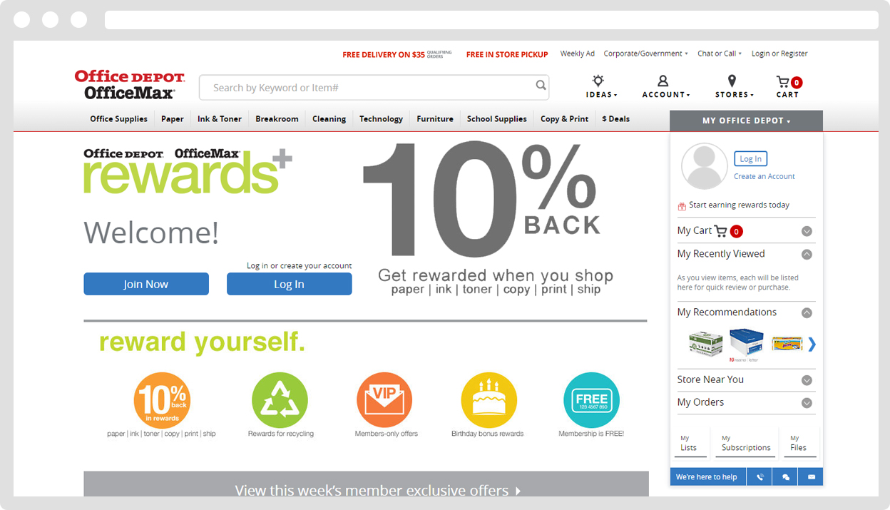 Office Depot and OfficeMax Coupons, Discounts, Bonus Points Dec 04 Shop online at Office Depot and OfficeMax and earn % cash back.