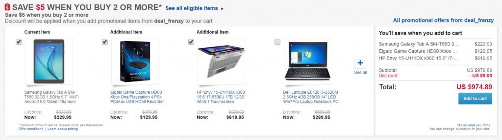 6 - eBay - upselling on product pages