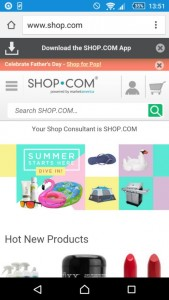 9 - Shop - home page on mobile