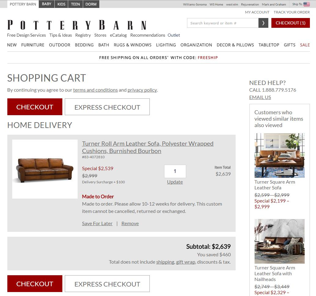 PotterxBarn-shows-the-amount-of-savings