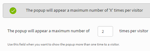 Popup maximum number of times to appear