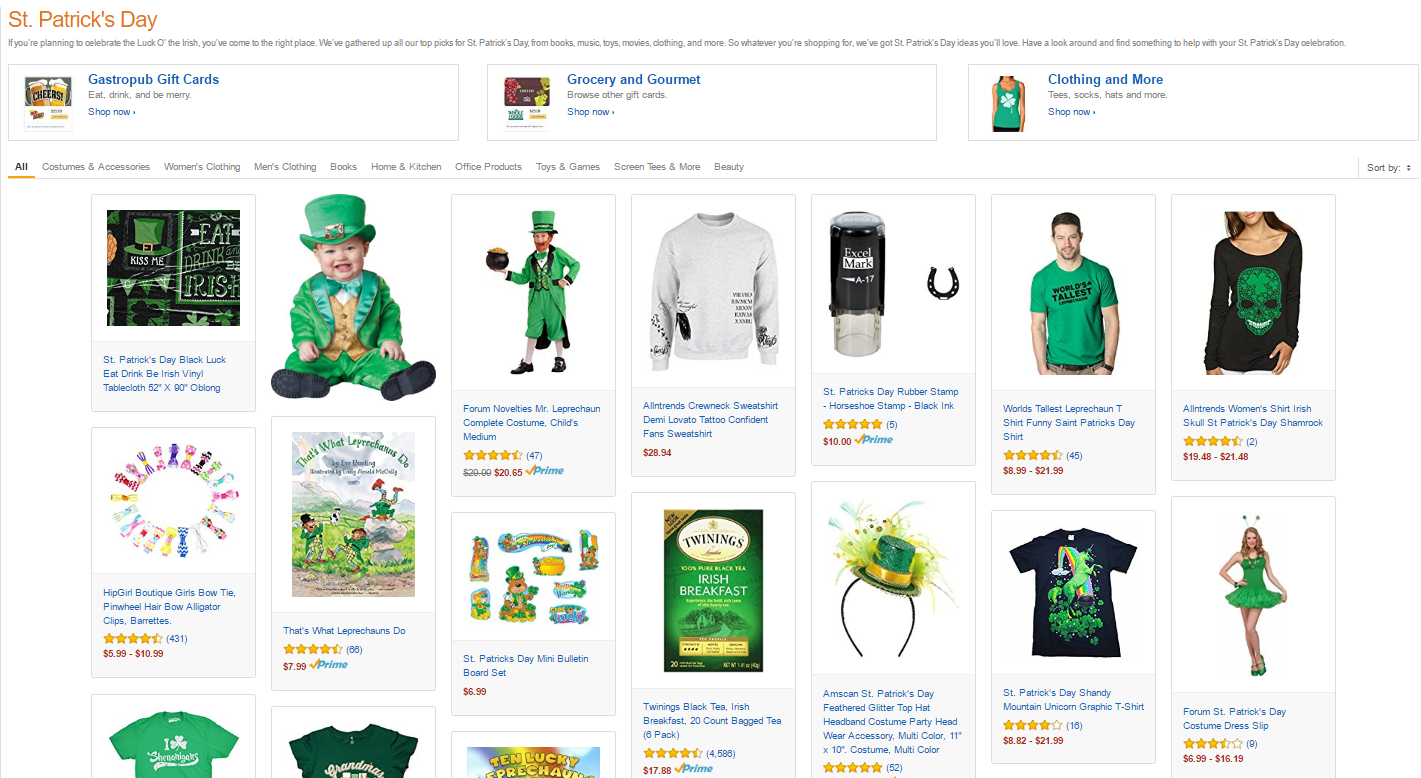 Amazon St. Patrick's Day