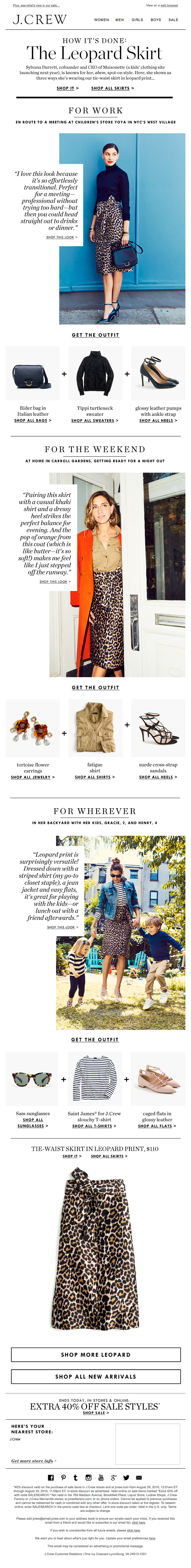J. Crew promotional email