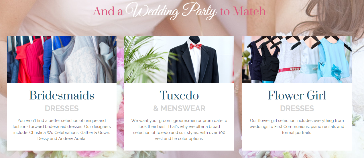 wedding clothes marketing campaign