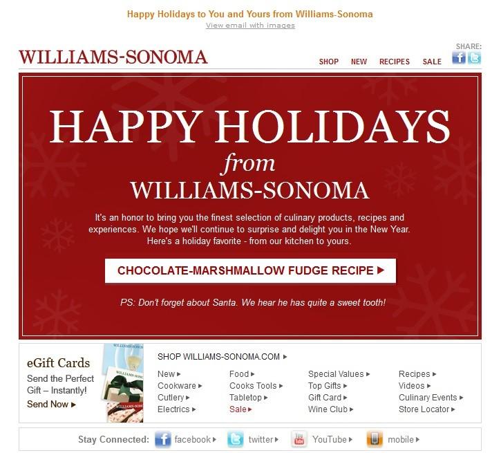 Williams-sonoma email