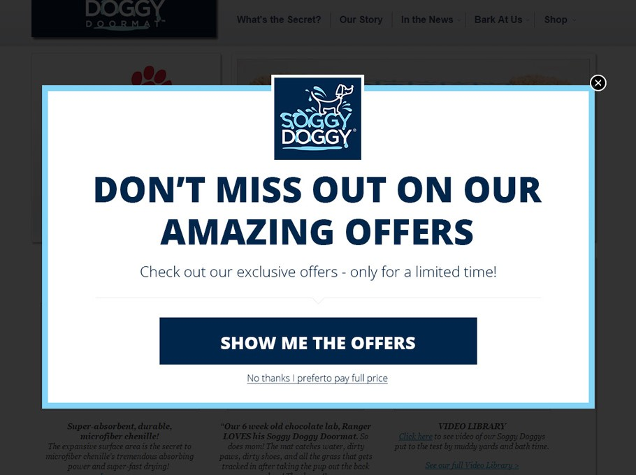 drive sales with popups