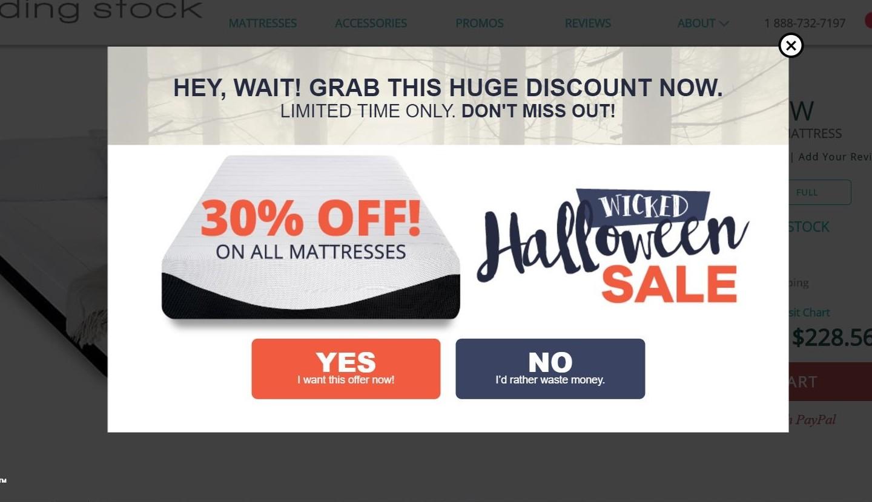 halloween popup campaign