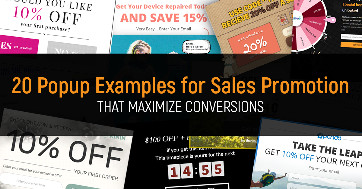 Sales Promotion Examples 20 Popups That Maximize Conversions