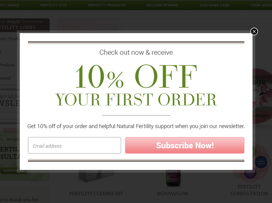 20 Popup Examples for Sales Promotion - Naturalfertility