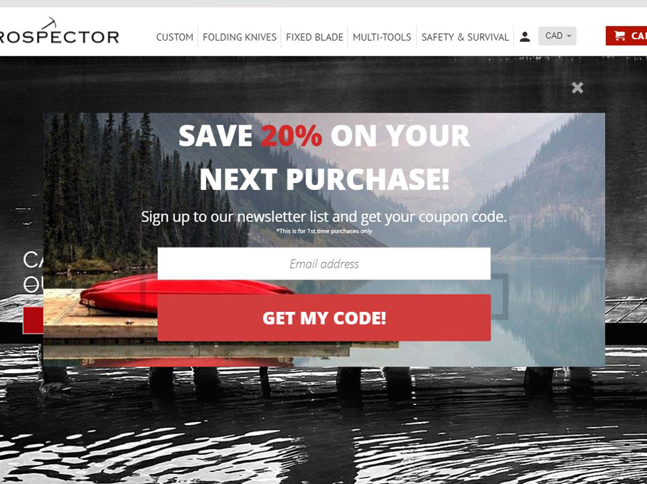 20 popup sales promotion examples that maximize conversions 20 popup examples for sales promotion prospectorknives fandeluxe Image collections