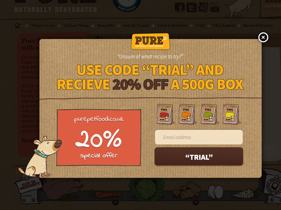 20 Popup Examples for Sales Promotion - Purepetfood