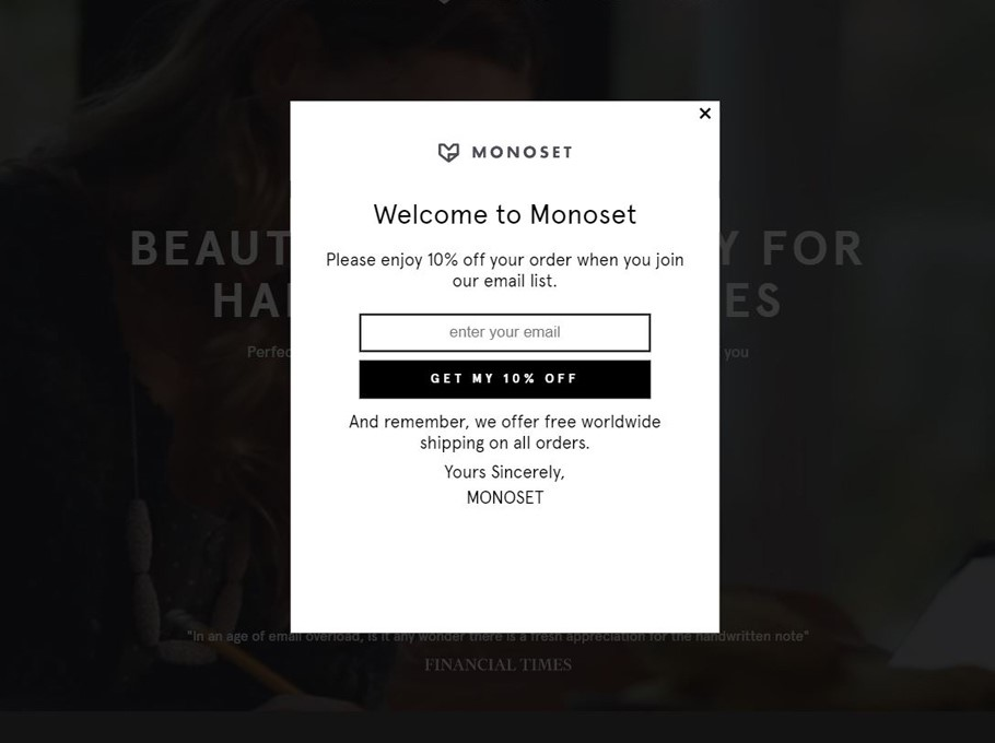 20 awesome popup examples to get more email subscribers easilyEmail Pop Up Examples #5
