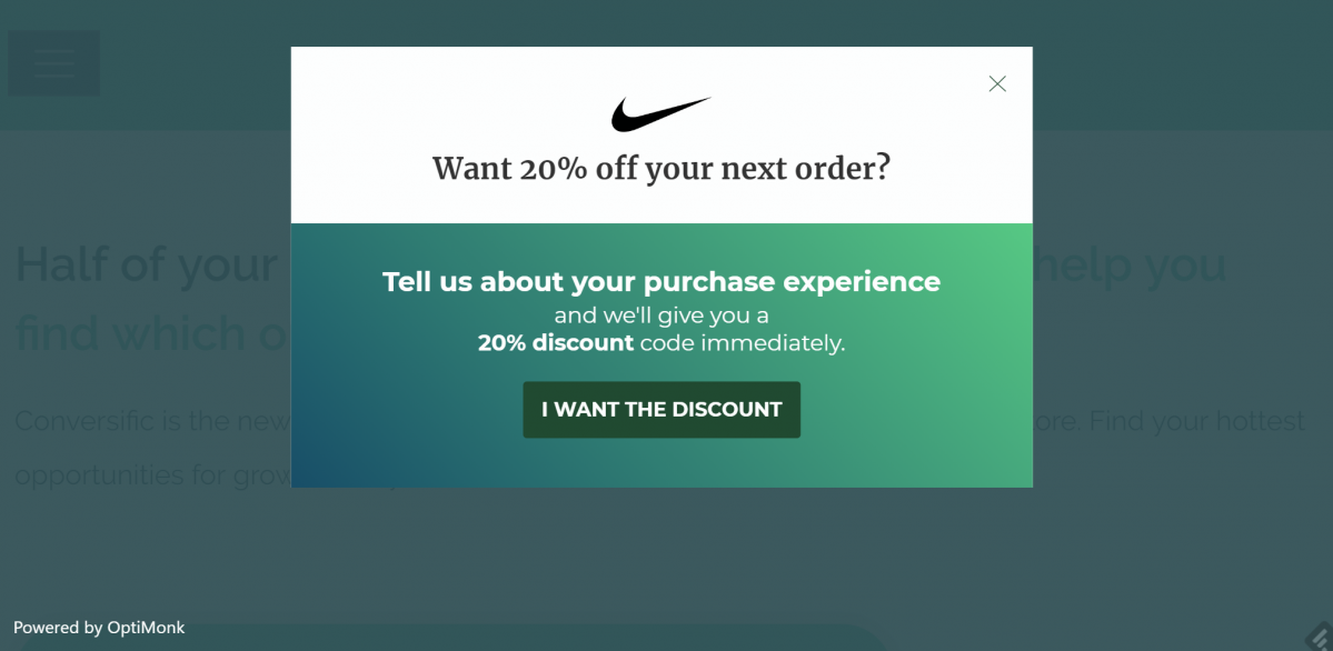 Display an after-purchase offer