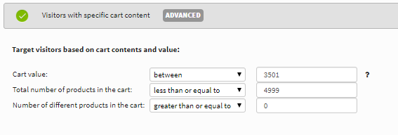 AVON cart abandonment popup settings