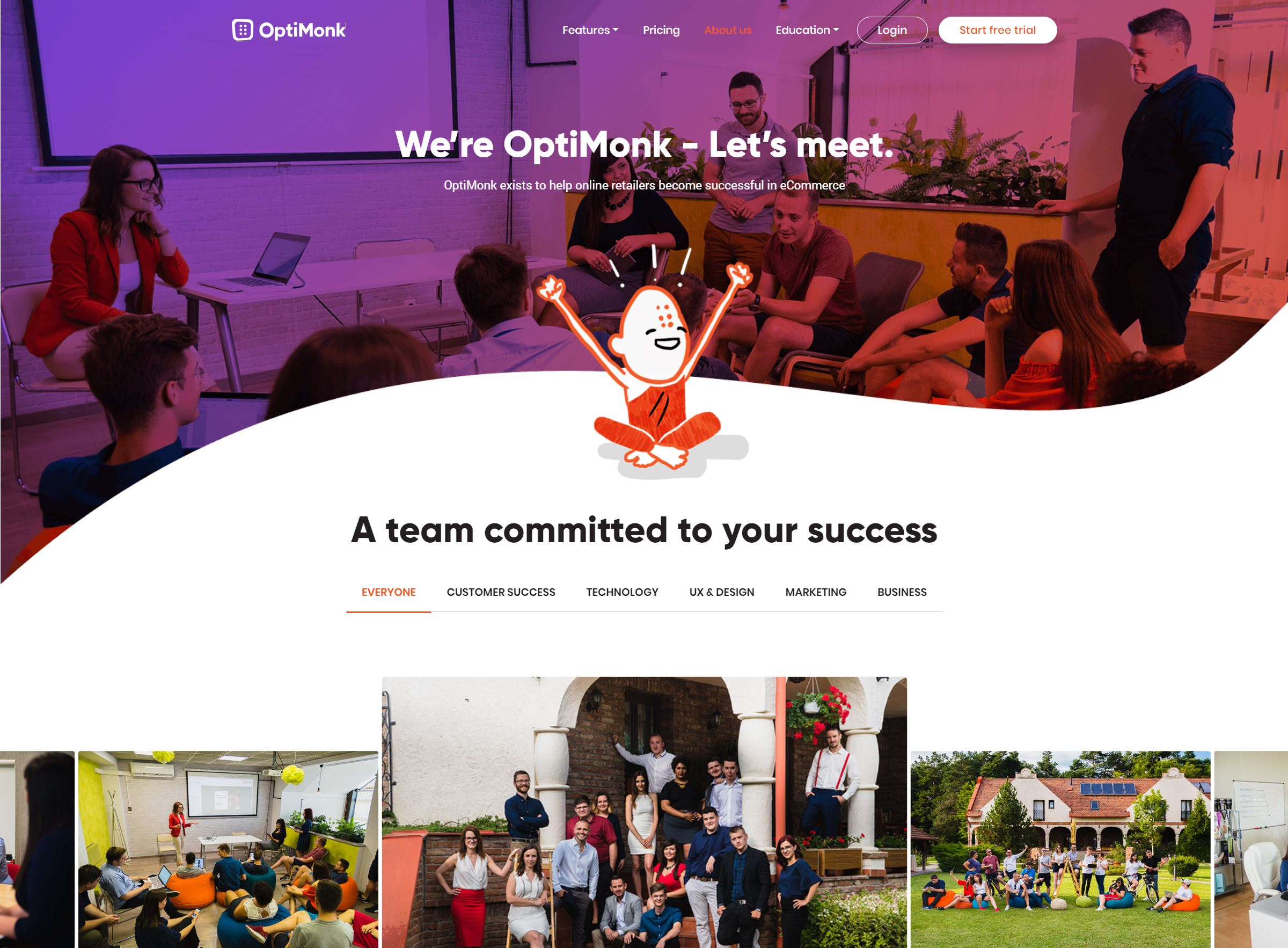 OptiMonk about us page