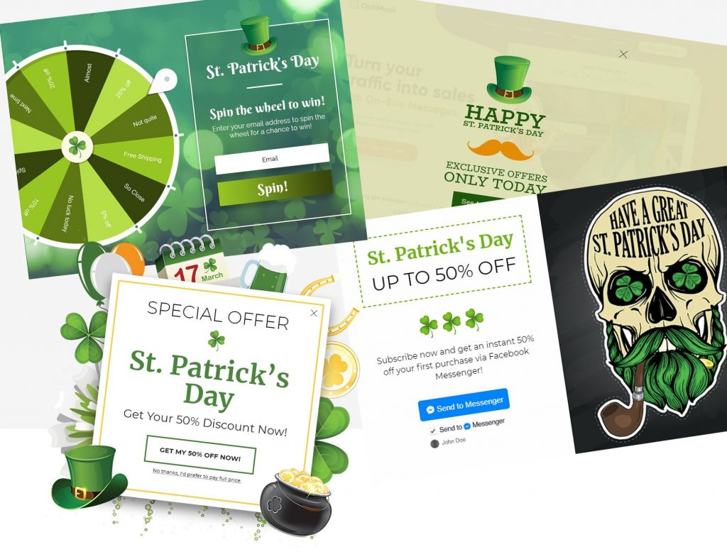 St. Patricks day sales templates