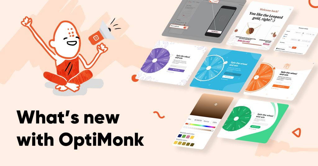 optimonk whatsnew v4 1024x536 - Conversational popup & new Cyber Monday templates, emojis ➕ other improvements